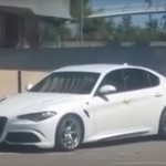 Новая модель Giulia QV от Alfa Romeo была заснята на дорогах Барселоны